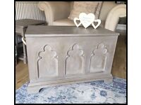 ANNIE SLOAN PAINTED SHABBY CHIC TOY/BLANKET BOX/TRUNK