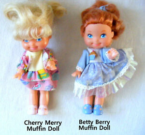 Vintage Mattel Cherry Merry & Betty Berry Muffin Dolls 1988