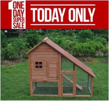 Large Brand Chicken Coop Rabbit Hutch Ferret Cage Hen Chook House
