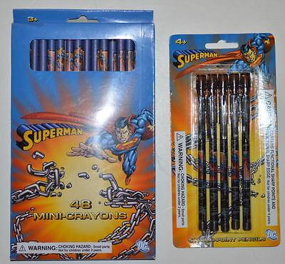 Multi Point Crayons (SUPERMAN 5 Pk MULTI-POINT MECHANICAL PENCILS & SUPERMAN 48 Pk MINI)