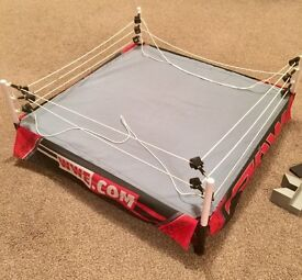 WWE ELITE AUTHENTIC SCALE RAW WRESTLING RING FOR FIGURES