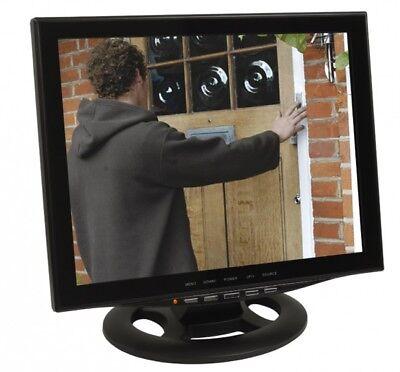 "15"" CCTV Monitor Video Überwachungsmonitor LED Backlight HDMI VGA Video Eingang"