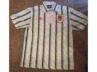 Retro wales football shirt. L