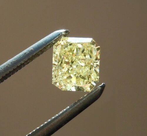 Lovely 9.5 X 8.5 MM 3.40 Carat Yellow Radiant Shape Cut Loose Moissanite 4 Ring