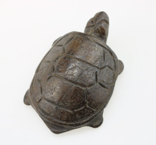 Old China HongShan culture Meteorite jade Hand-carved tortoise amulet Pendant