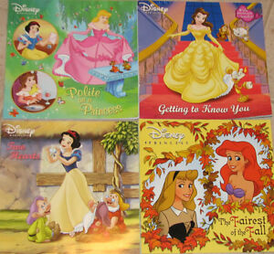 Qty 4 x Lots of 4 Disney Princess Soft Cover Books (Lots #2 & 3)