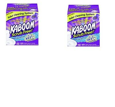 Church And Dwight  2 Pack  35113 Kaboom Scrub Free Toilet Cleaning System Cleane