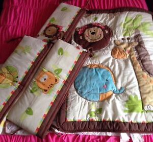 FOR SALE BABY CRIB BUMPER PADS & BLANKET
