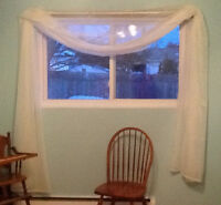 """New 60"""" x 222"""" SWAG WINDOW TREATMENT.   See also panels"""