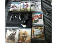 Ps3 500gb, controllers and games