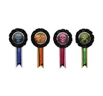 1 packs of 4 Halloween best costume awards trick or treat party favors