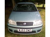62000 MILES ONLY 10/2003 FIAT PUNTO ACTIVE ONLY 3 OWNERS GOOD DRIVE
