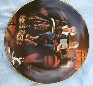 Norman Rockwell Collector Plate Evenings Ease