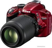 Nikon D3200 24 Mega Pixel DSLR Kit - RED - NEW!!!