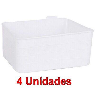 Set 4 Unidades de caja cesta Organizador Multiusos flexible 18 x 13,5...
