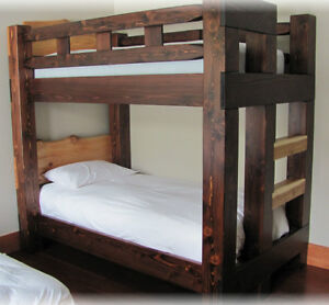 Hand crafted Timber bunk beds in Fanny bay
