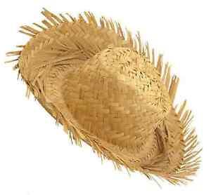 Beachcomber Hawaiian Straw Hat Fancy Dress Mens Ladies Adults Costume Accessory