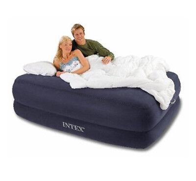 Intex Foam Bed - MEMORY FOAM QUEEN AIR BED RAISED MATTRESS AIRBED REMOTE