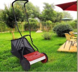 Hand Push Mower Cylinder 38cm Cutting Width Manual Lawnmower Grass Cutter Garden