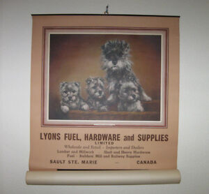 Vintage wall calendar 1954 Lyons Fuel, Hardware and Supplies