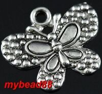 silver plated butterfly necklace--new!