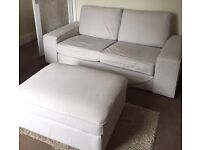 IKEA KIVIK sofa and footstool REDUCED