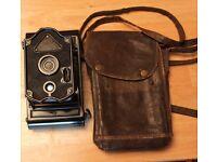 Rajar No 6 Spool Camera & Original Bag 1920's