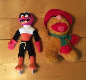 "Vintage Muppets NHL SKATING DOLL:12"" ANIMAL and Baby Fozzie"