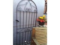 Pair of Solid Iron Gates