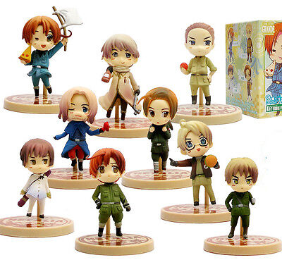 Axis Powers Hetalia anime cute pvc toy doll figures set of 9 pcs  on Rummage