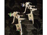 SATA JET 400 digital base and clear guns
