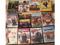 SELECTION OF DVDS AND XBOX GAMES.