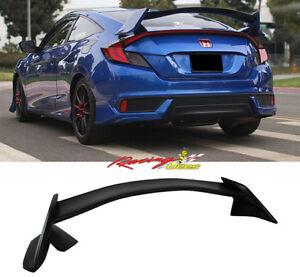 2016-2018 Civic Coupe 2door Type-r Style Trunk Spoiler Unpainted