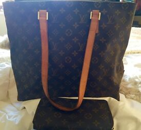 Louis Vuitton (Genuine) shopper and matching purse