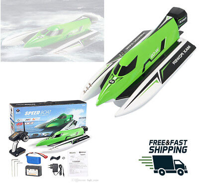 Fast RC boat brush less motor Wltoys model WL915 45km/h Best race watercraft