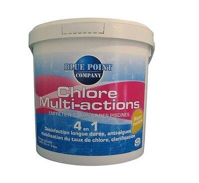 Cloro Multi Acciones 4 En 1 Eau Piscina Desinfección Anti Algas Aclara...
