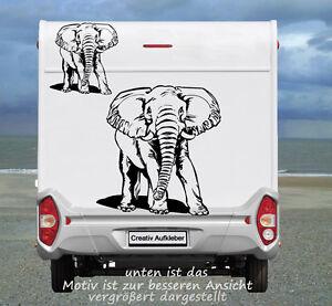 Elefant  Aufkleber für das Wohnmobil und auch als Wandtattoo echt klasse Motiv