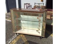 RETRO MARBLE EFFECT CHINA CABINET - GOOD CONDITION