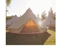Brand New 4 Metre Canvas Bell Tent For Sale
