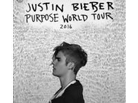 4x STANDING Justin Bieber tickets for Sunday 23th October
