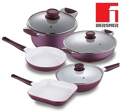 Bergner Ceramic Frying Pans Ceramic WOK Ceramic Pan Square Grilling Pans NEW