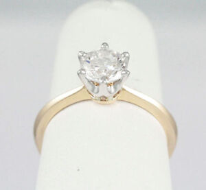 14k Yellow Gold Diamond Solitaire Engagement Ring (1.00 ct) 1880