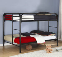 Metal Bunk Bed and Two Mattresses - Sn/Sn - For Limited Time