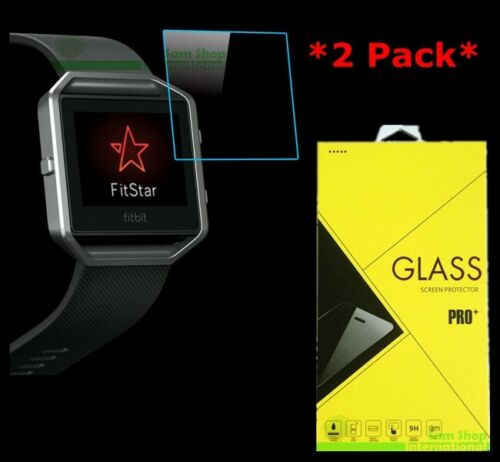 2X Premium Real Tempered Glass Screen Protector For Fitbit