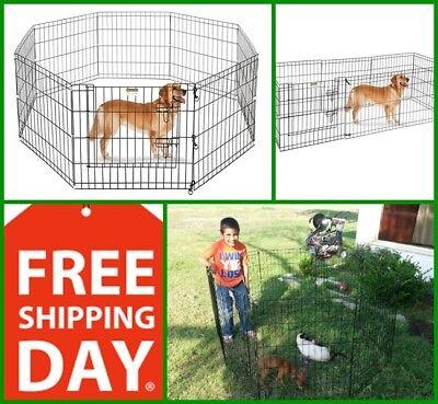 SALE Large Indoor Outdoor Dog Pet Playpen Exercise Pen Cat Rabbit Cage 8 Panels