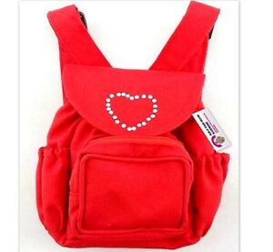 Teddy Bear Clothes fit Build a Bear Teddies Red Backpack Bag Bears & Dolls Wear
