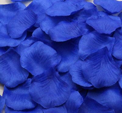 200pcs Royal Blue Lifelike Artificial Silk Rose Petals Decorations Wedding Party](Royal Blue Rose Petals)