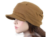Cadet / Military Style Mustard Colour Jersey Cotton Cap