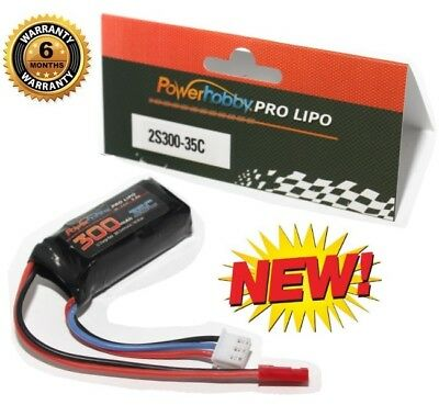 Powerhobby 2S 7.4v 300mAh 35C Lipo Battery w JST Connector