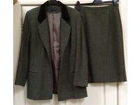 Moss green Alexon suit size 14